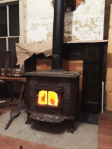 <h5>Wood-burning Stove</h5><p>Heating the house mostly with wood to save money</p>